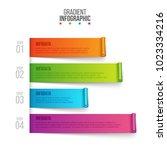 vector ribbons elements for... | Shutterstock .eps vector #1023334216