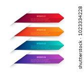 vector gradient arrows elements ... | Shutterstock .eps vector #1023334228
