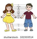 cartoon boy and girl....   Shutterstock .eps vector #102333514