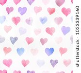 seamless watercolor pattern... | Shutterstock . vector #1023339160