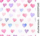 seamless watercolor pattern... | Shutterstock . vector #1023339160