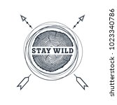 hand drawn travel badge with...   Shutterstock .eps vector #1023340786