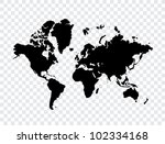 world map | Shutterstock .eps vector #102334168