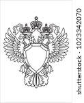 coat of arms | Shutterstock .eps vector #1023342070