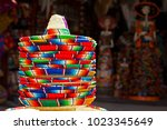 traditional colorful mexican... | Shutterstock . vector #1023345649