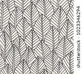 elegant seamless pattern leaves ... | Shutterstock .eps vector #1023346294