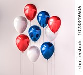 set of dark blue  red and white ... | Shutterstock . vector #1023349606