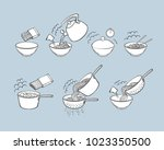 step by step instant noodle and ... | Shutterstock .eps vector #1023350500
