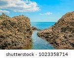 beautiful summer sea landscape...   Shutterstock . vector #1023358714
