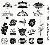 vintage styled premium quality... | Shutterstock .eps vector #102336034