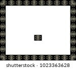 border or frame of abstract... | Shutterstock . vector #1023363628