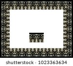 border or frame of abstract... | Shutterstock . vector #1023363634