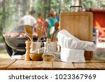 grill and landscape  | Shutterstock . vector #1023367969