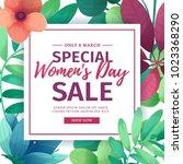banner for sale international ... | Shutterstock .eps vector #1023368290