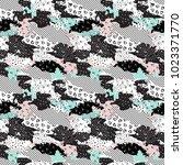 seamless geometric pattern of... | Shutterstock .eps vector #1023371770