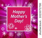 happy mother's day greeting...   Shutterstock .eps vector #1023372700