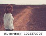 beautiful 4o years old woman...   Shutterstock . vector #1023373708