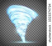 Glowing Tornado With Lightning...