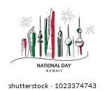 vector hand drawn illustration  ... | Shutterstock .eps vector #1023374743