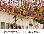 paraty street festival streamers | Shutterstock . vector #1023375430