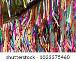 paraty street festival streamers | Shutterstock . vector #1023375460