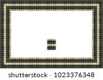 border or frame of abstract... | Shutterstock . vector #1023376348