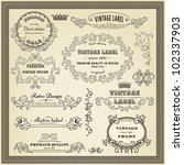 set of design elements  labels  ... | Shutterstock .eps vector #102337903