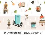 hand drawn vector abstract... | Shutterstock .eps vector #1023384043