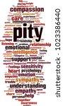 pity word cloud concept. vector ... | Shutterstock .eps vector #1023386440