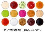 set of different sauces... | Shutterstock . vector #1023387040