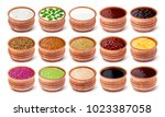 set of different sauces... | Shutterstock . vector #1023387058