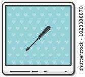 screwdriver flat vector icon.