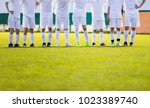 youth football team. young... | Shutterstock . vector #1023389740