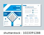 annual report  broshure  flyer  ... | Shutterstock .eps vector #1023391288