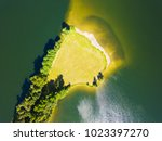 aerial view of sandy beach on... | Shutterstock . vector #1023397270