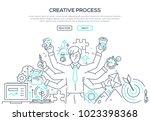 creative process   modern line... | Shutterstock .eps vector #1023398368