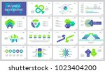 analytics and sales slide... | Shutterstock .eps vector #1023404200