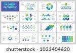fifteen finance slide templates ... | Shutterstock .eps vector #1023404620
