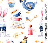 wonderland seamless texture... | Shutterstock . vector #1023404644