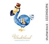 wonderland collection.lovely... | Shutterstock . vector #1023406396