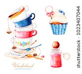 wonderland collection.magical... | Shutterstock . vector #1023407044