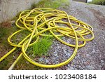 the water hose  | Shutterstock . vector #1023408184
