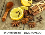 dried herbs and seasoning. star ... | Shutterstock . vector #1023409600