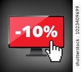 sale  markdown  discount 10... | Shutterstock .eps vector #1023409699