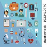 modern medical icons in the...   Shutterstock .eps vector #1023410770