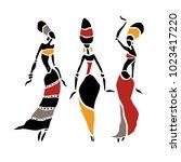 african american dancers.... | Shutterstock .eps vector #1023417220