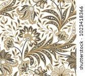 floral pattern. flourish tiled... | Shutterstock .eps vector #1023418366