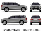 realistic suv car. front view ... | Shutterstock .eps vector #1023418483