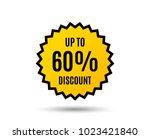up to 60  discount. sale offer... | Shutterstock .eps vector #1023421840