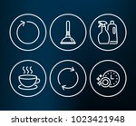 set of shampoo and spray ... | Shutterstock .eps vector #1023421948